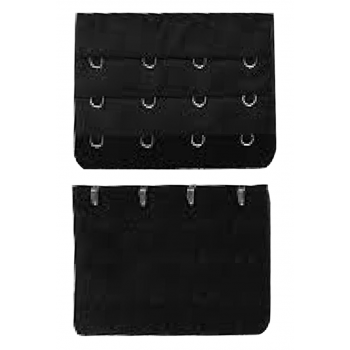 4 Hook Bra Extender - Black