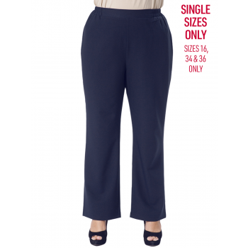 CREPE PANTS - NAVY