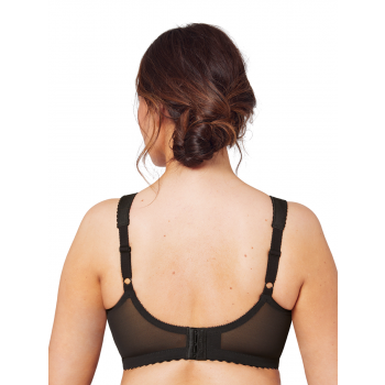 Glamorise Bra 1000 - Feel the Magic Wire-Free Support - BLACK