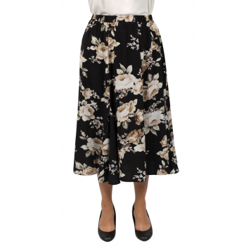 No Words 8 Gore Skirt - Black/Print