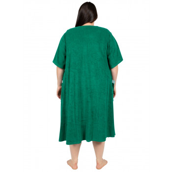 Dreamland Terry Dressing Gown - Green