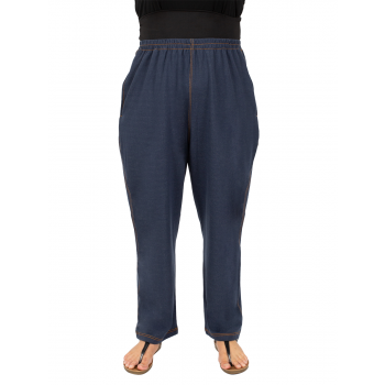 High Waisted Comfort Pants - Denim