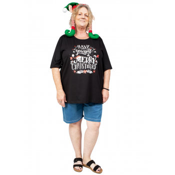Have yourself a Merry Christmas Tee - Black