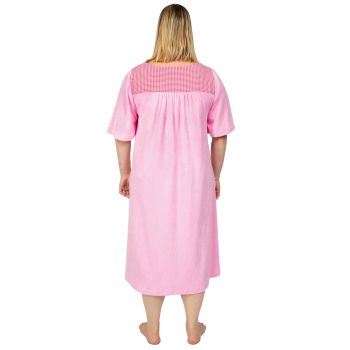 Dreamland Terry Dress with Sleeves - PINK