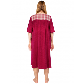Dreamland Terry Dress with Sleeves - Wine