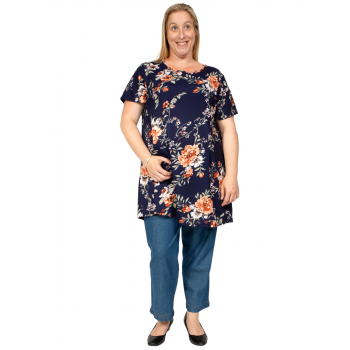 NORTH WIND TUNIC - NAVY PRINT