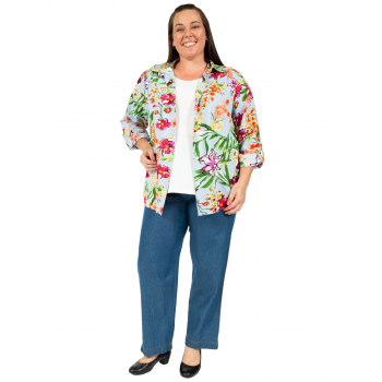 FOREVER CHANGES CLASSIC BLOUSE - PRINT