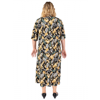 ROAD TO DESTINY SHIRT DRESS - BLACK PRINT