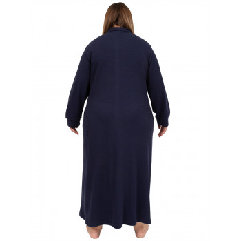 AFTER HOURS DRESSING GOWN - NAVY
