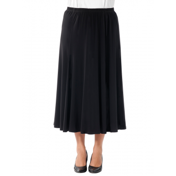 The London 6 Gore Skirt - BLACK