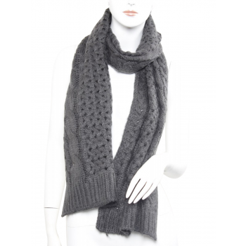 Knitted Scarf - Charocal