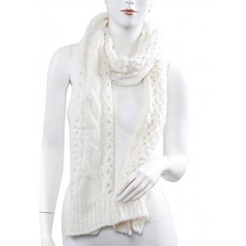 Knitted Scarf - White