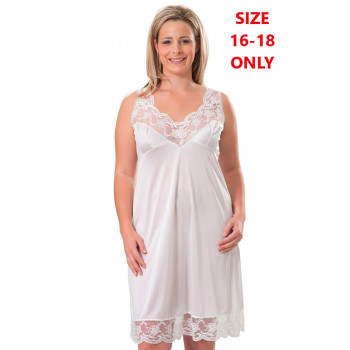 Tricot Full Slip - White