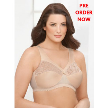 Glamorise Bra - Feel the Magic Wire-Free Support - BEIGE