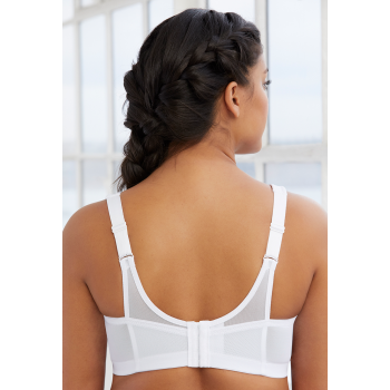 Glamorise Bra 1006 - The Versatile Medium Support Sports Bra - WHITE