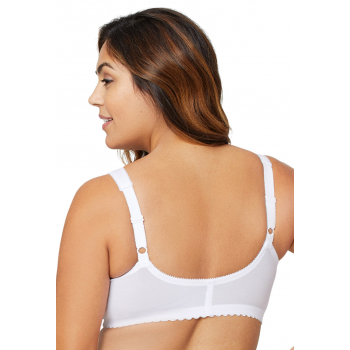 Glamorise Bra - The Front Close Wire-Free Support - WHITE