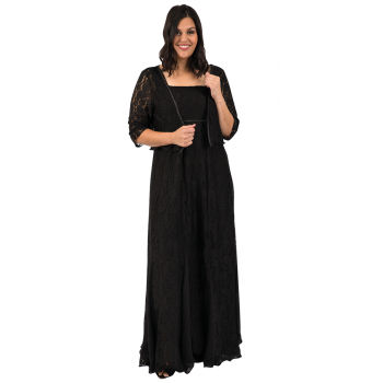 Black Night Lace Dress - Black