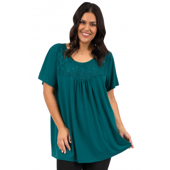 Laced Up Tunic - Teal