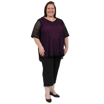 2UP Lace Top - Purple