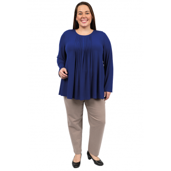 After Hours Pleated Top - BLUE