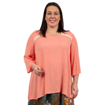 Fire-Fly Top - Coral