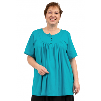 Kimberly Bib Top - Teal  (100% Cotton)