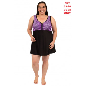 Purple Swirl Swim Dress