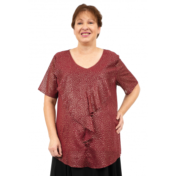 Starlight Frill Top - Red Print