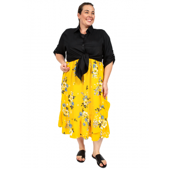 Country Road Skirt - Yellow