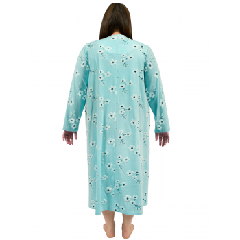 Sweet Lily Nightie Long Sleeves - MINT GREEN