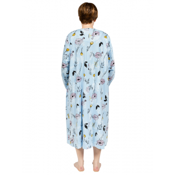 Sweet Lily Nightie Long Sleeves - BLUE