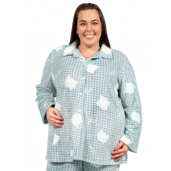 Avalon Flannel PJ Top - Green