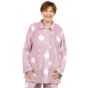 Avalon Flannel PJ Top - Pink