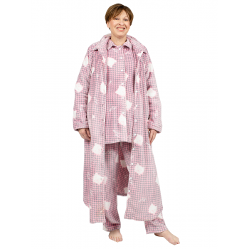 Avalon Flannel Nightie / Brunchcoat - Pink