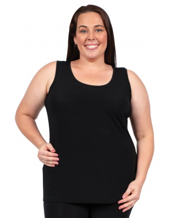 ROUND NECK CAMI - Black