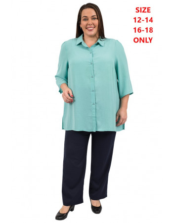 Echoes Classic Blouse - Teal