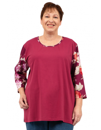 Good News Top - Plum Printed