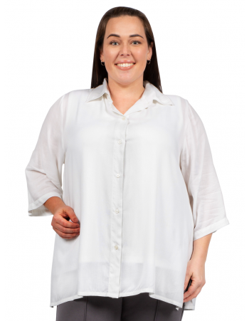 Classic Collar Blouse - White