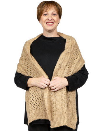Knitted Scarf - Beige