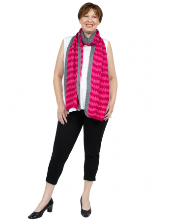 Mohair Long Scarf - Pink