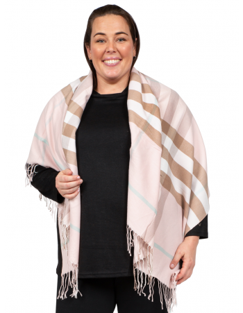 Stripe Shawl - PINK