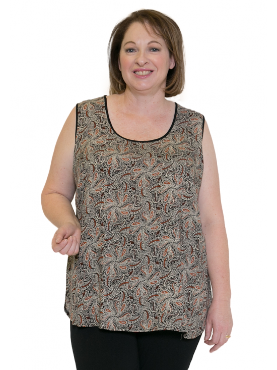 f51100d926466 Plus Size Woman Casual Cami State Fair Round Neck Top