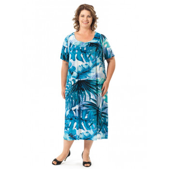 CLEARANCE - Tropical Leaves Dress