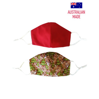 ICED XMAS TREES - PRINT (RED REVERSIBLE)
