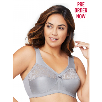 Glamorise Bra 1000 - Feel the Magic Wire-Free Support - SILVER