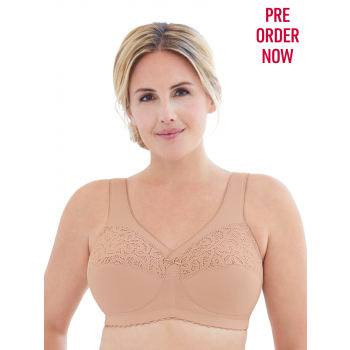 Glamorise Bra - Everyday Magic Cotton Support Bra - BEIGE