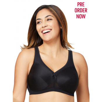 Glamorise Bra 1005 - Made to Move Wire-Free Support Bra - BLACK