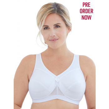 Glamorise Bra 1005 - Made to Move Wire-Free Support Bra - WHITE