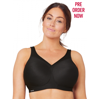 Glamorise Bra 1006 - The Versatile Medium Support Sports Bra - BLACK