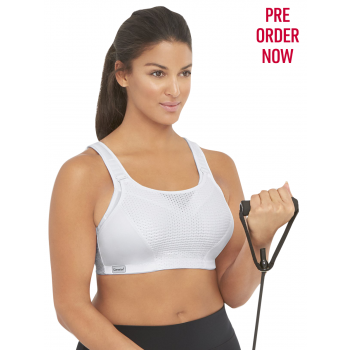 Glamorise Bra 1166 - Total Control Custom Support Sports Bra - White
